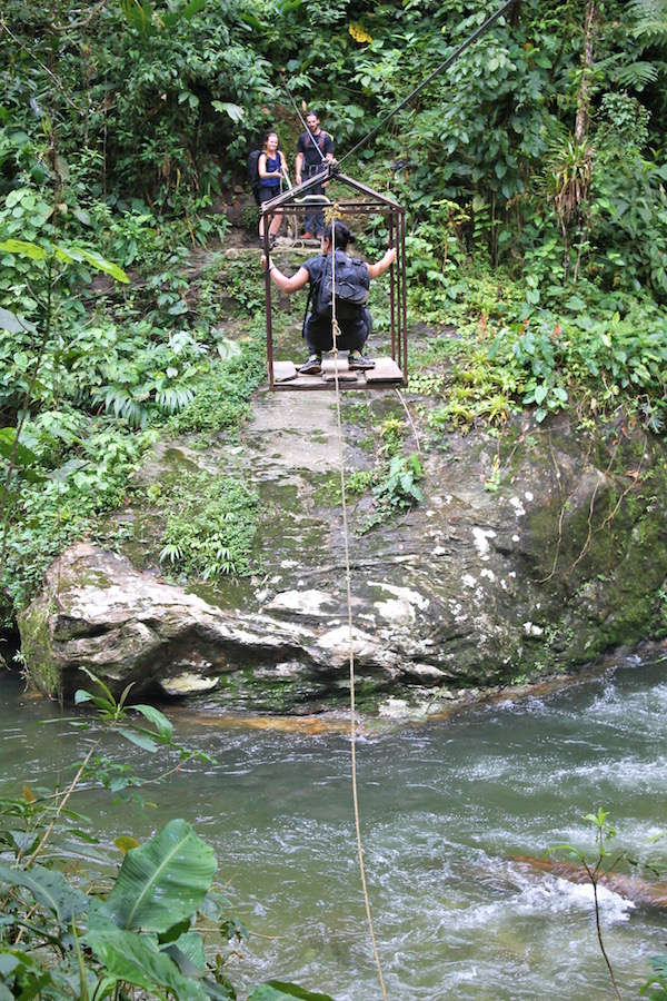 Colombian Jungle River Crossing