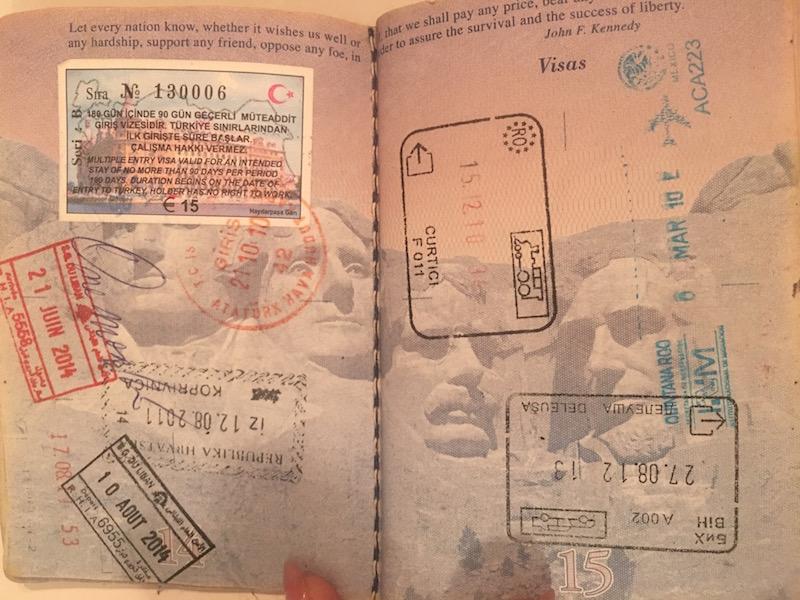 U.S. Passport visas