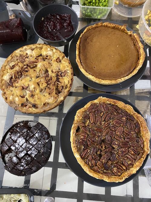 Three Thanksgiving Pies